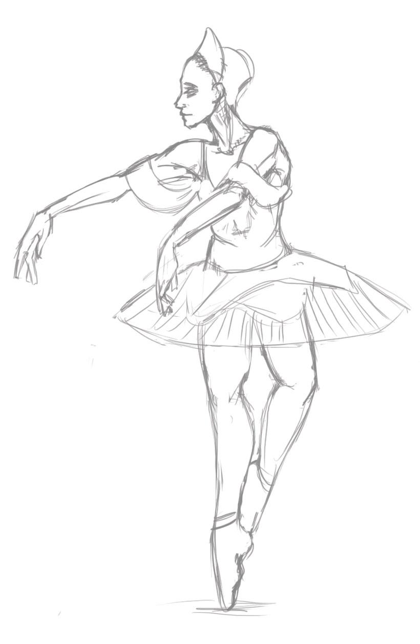 820x1258 Figure Drawing Ballerina By Romanjones