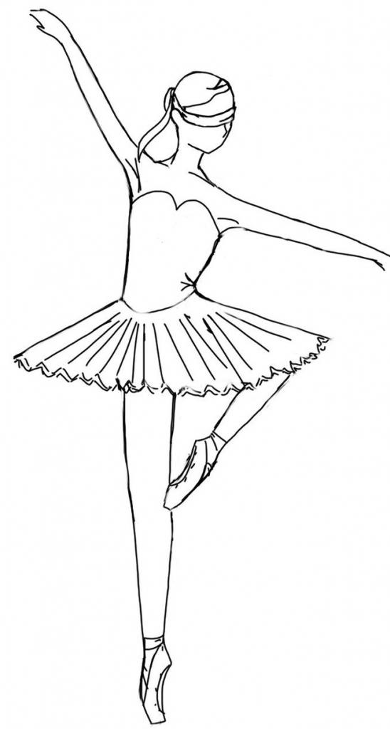 548x1024 How To Draw A Ballerina Easy Ballerina Base Missyrayney