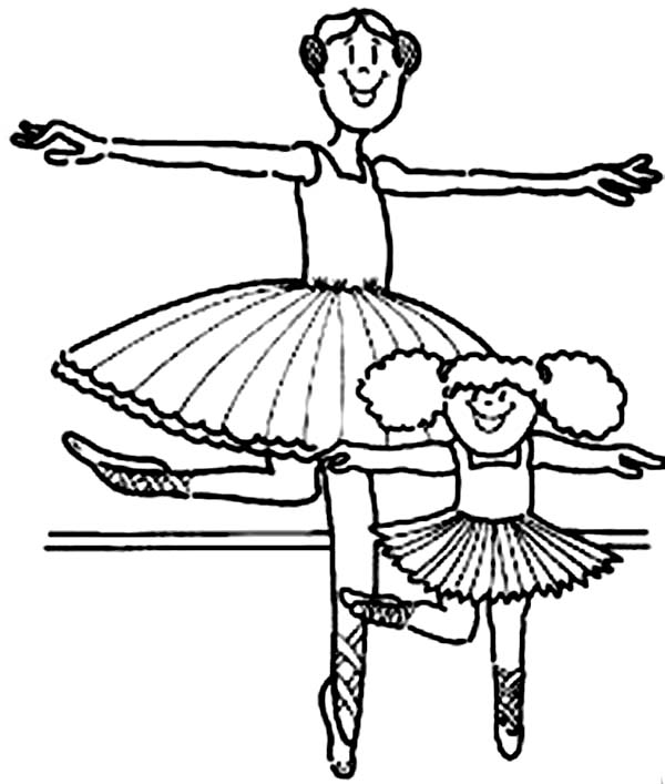 600x707 Kids Drawing Of Ballerina Coloring Page Color Luna