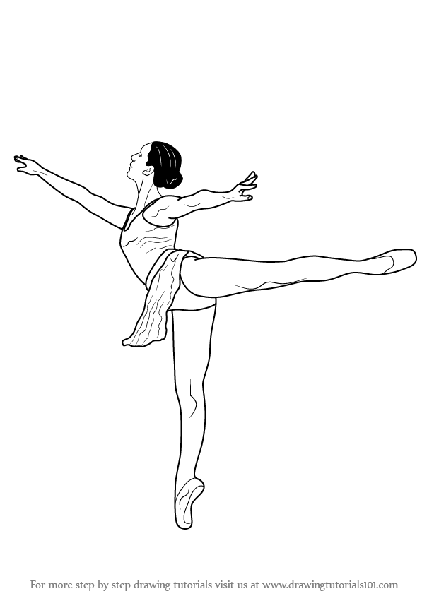597x844 Learn How To Draw A Ballet Dancer (Ballet) Step By Step Drawing