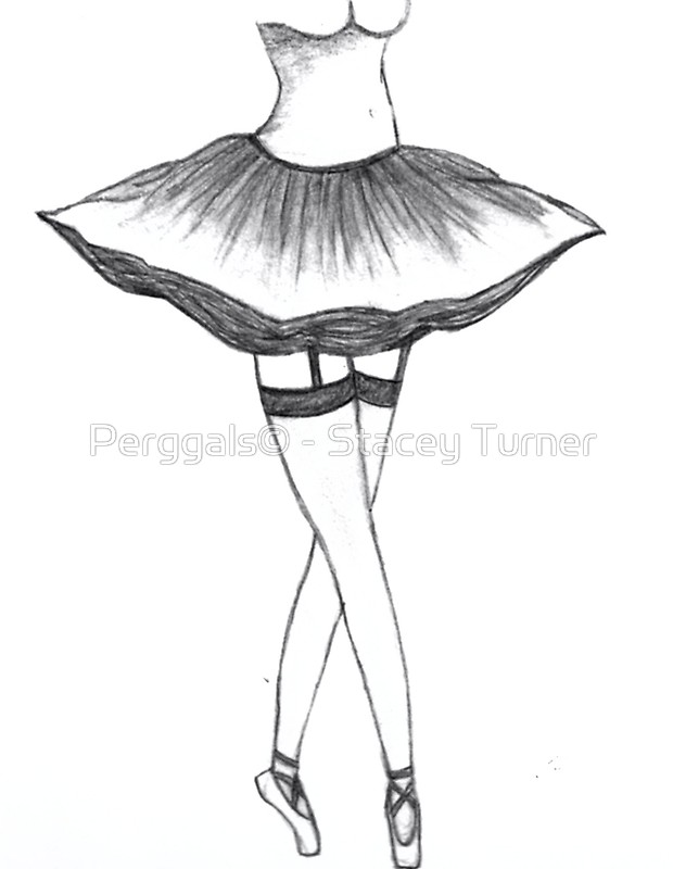 620x800 Sexy Ballerina Drawing Posters By