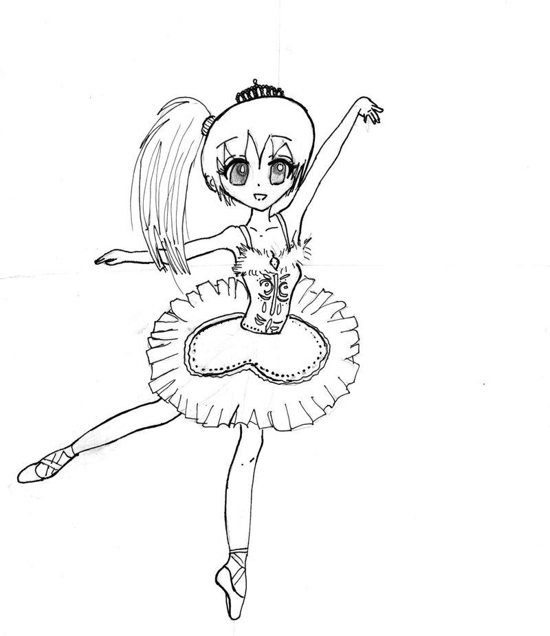 800x925 Ballerina Lineart By Anime Kelsey26
