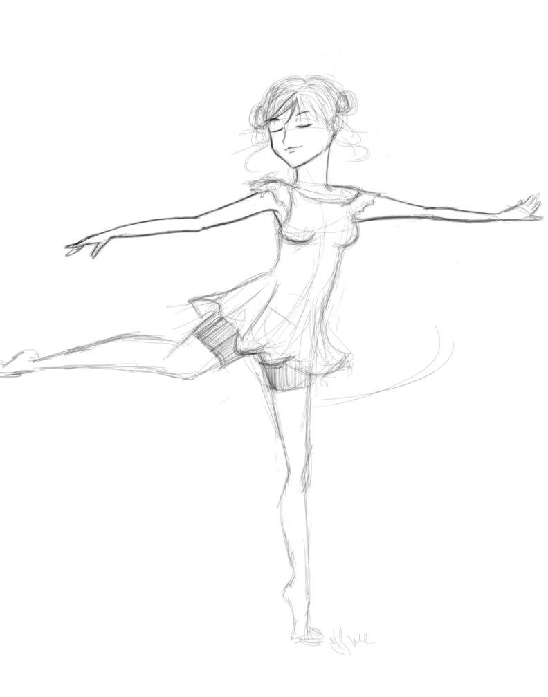 792x1008 Ballerina Sketch By Ximehime