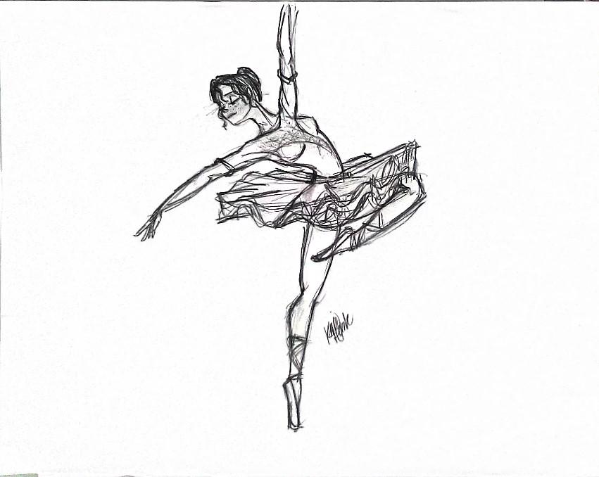 851x678 Ballerina Sketch By Kcbrookster