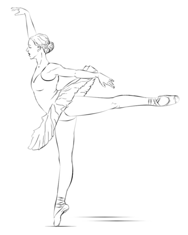 384x480 Ballerina Coloring Page Free Printable Coloring Pages