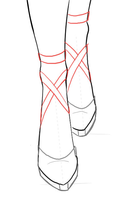 450x650 Draw Front View Of Shoes I Draw Fashion