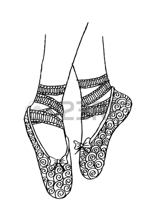 318x450 886 Ballerina Feet Stock Illustrations, Cliparts And Royalty Free