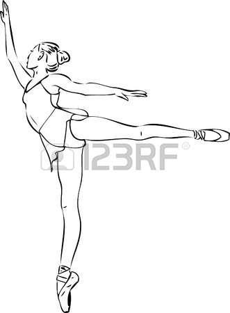 331x450 Sketch Of Ballet Dancer's Feet. Vector Illustration Royalty Free