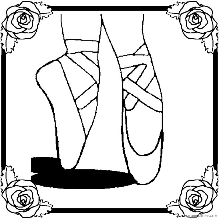 766x766 Ballet Coloring Pages Ballerina Feet Coloring4free