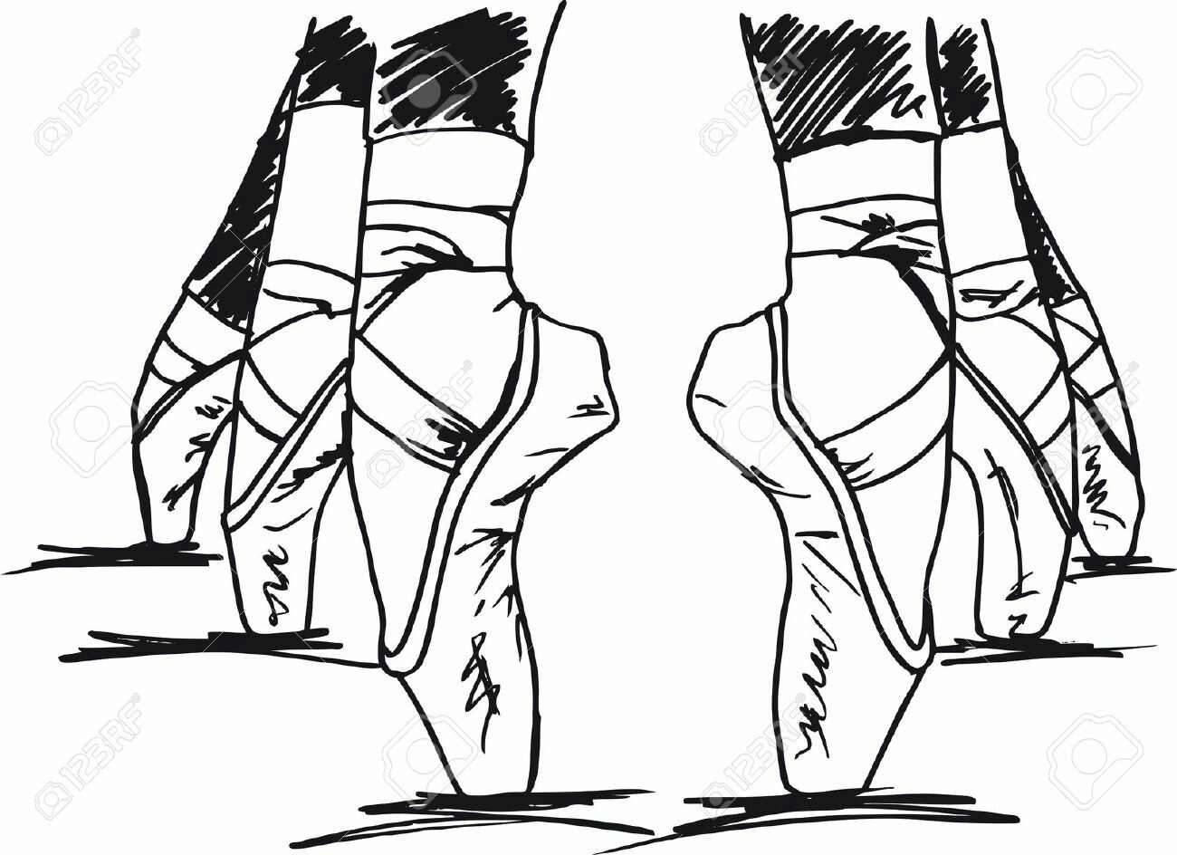 1300x944 Point Shoes Drawing Sorce Art