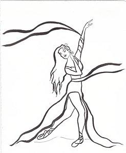246x300 Ballerina Girl Drawings
