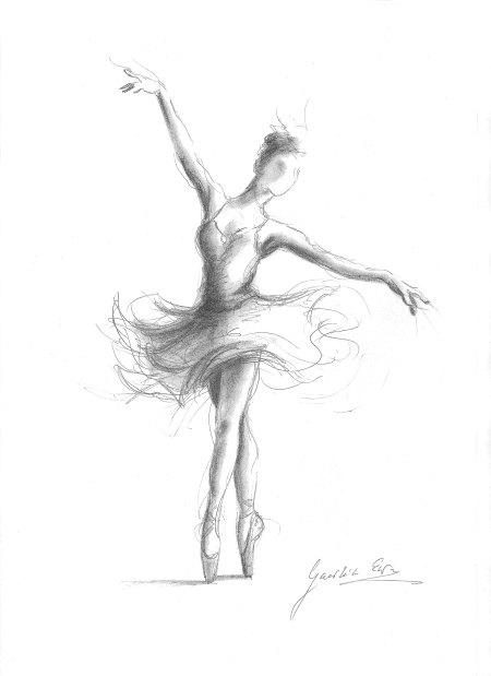 450x619 Ballerina Print Ballerina Sketch Print Of Drawing Picture