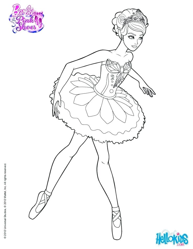 736x951 Barbie Ballerina Coloring Pages Ballerina Girl With Flower Tutu
