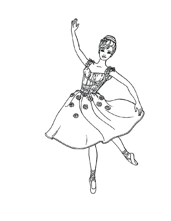 600x776 Barbie Ballerina Girl Coloring Pages Sky Angelina Murs