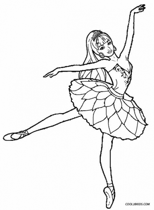 537x730 Lovely Ballerina Girl Coloring Page Kids Coloring Pages