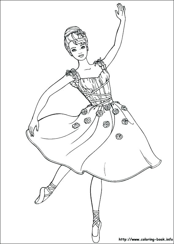 567x794 Ballerina Coloring Pages Ballerina Girl Enjoying Practice Coloring