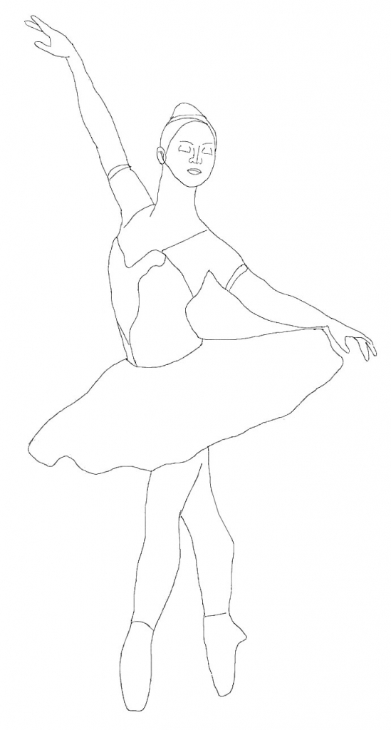 549x1024 How To Draw A Ballerina Step By Step Coloring Pages Free Printable