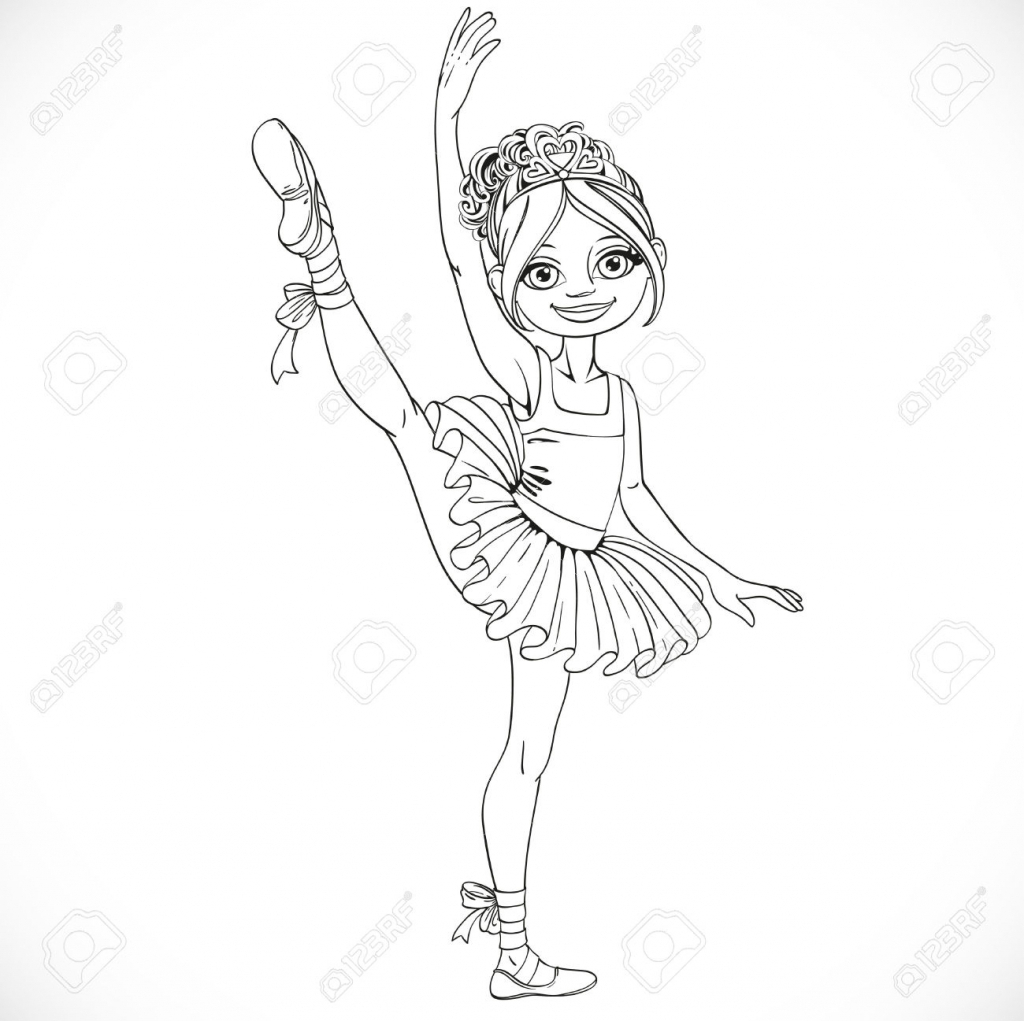 1024x1021 How To Draw A Ballet Girl How To Draw A Ballerina Tutu