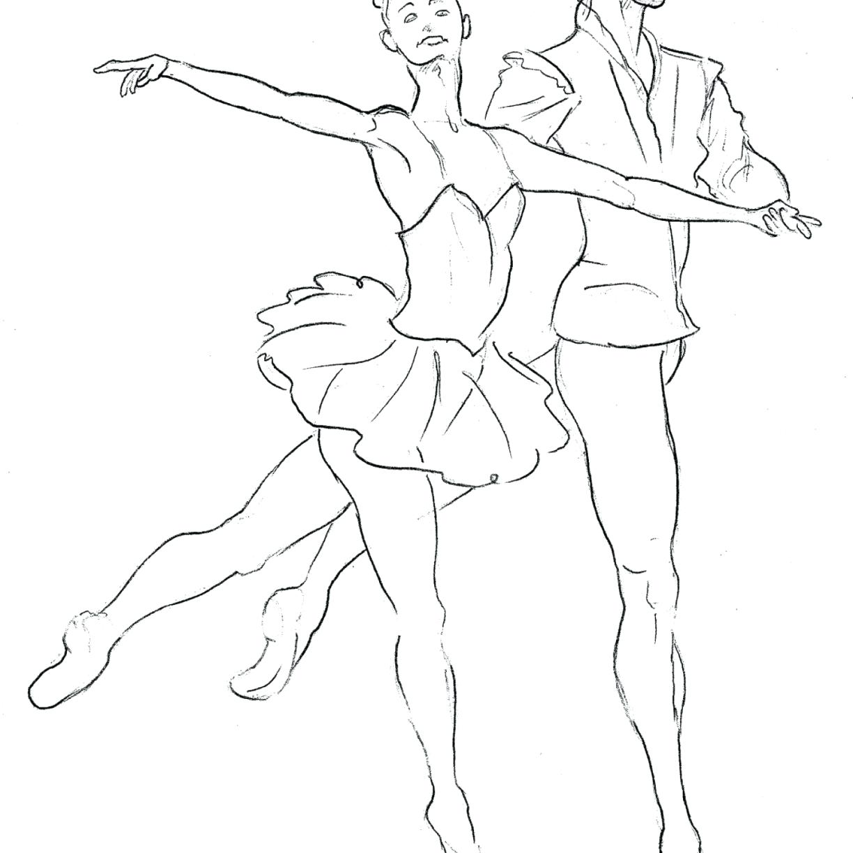 1224x1224 Coloring Dance Coloring Page