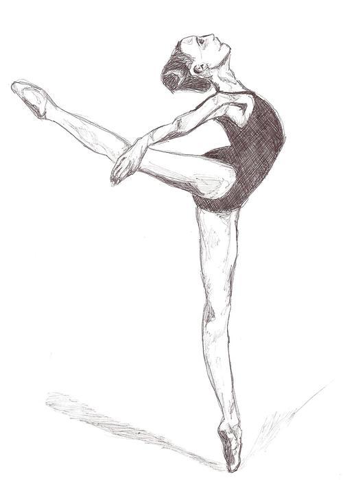 Ballerina Pencil Drawing At Getdrawings