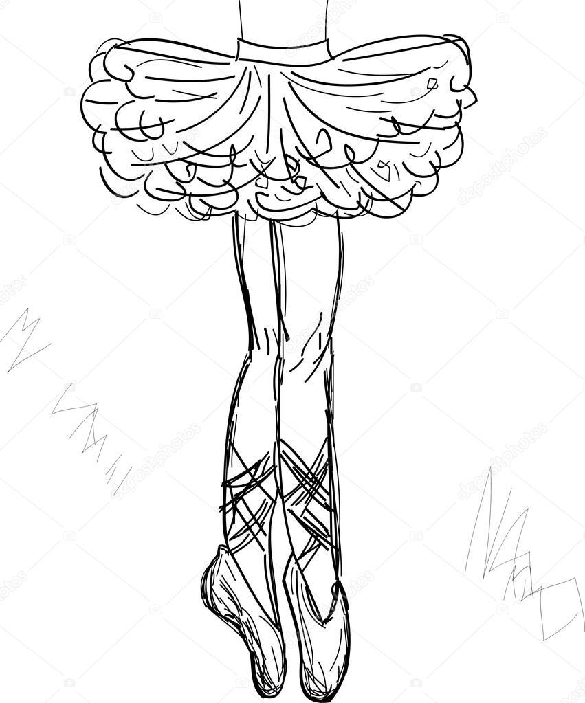 851x1023 Beautiful Ballerina Vector Stock Vector Yaroslavna