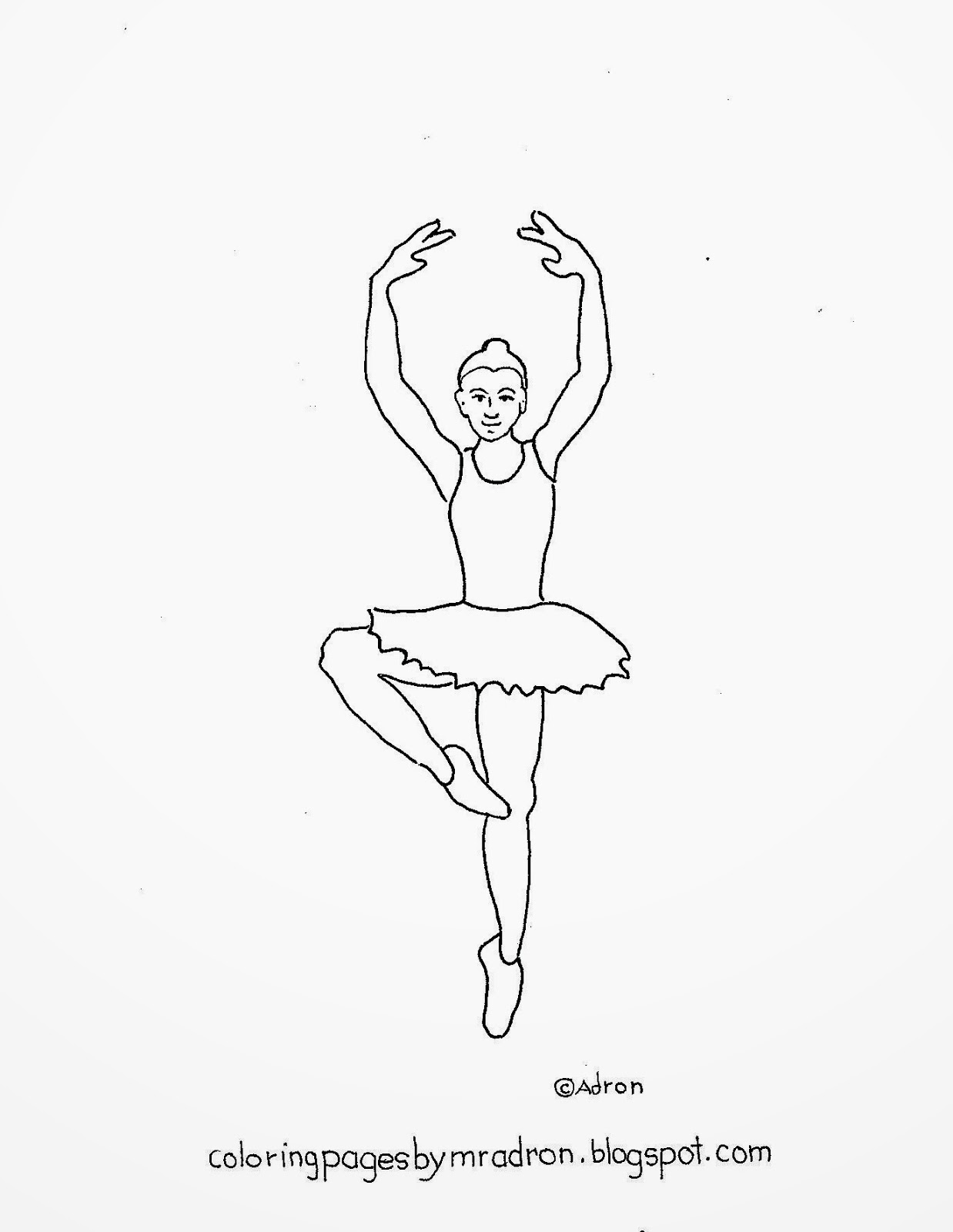 1238x1600 Coloring Pages For Kids By Mr. Adron Printable Ballerina On One