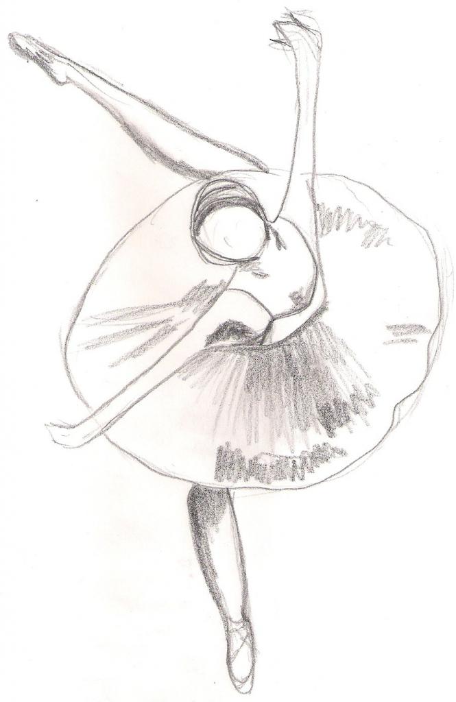 665x1024 Drawing Of Ballerina