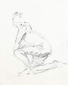 240x300 Nude Dancer Drawings Fine Art America