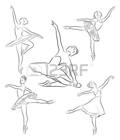 388x450 Sketch Of Ballerina. Expressive Performance Girl Ballet Drawing