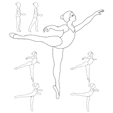 230x230 Top 10 Free Printable Beautiful Ballet Coloring Pages Online