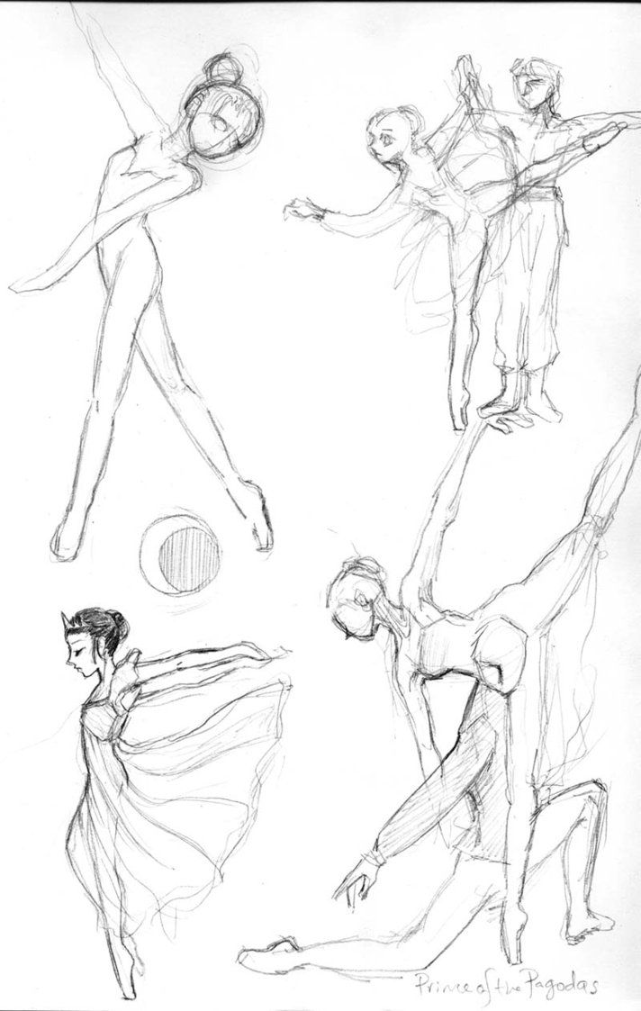 712x1123 Ballet Sketches 1 By Hbanana7