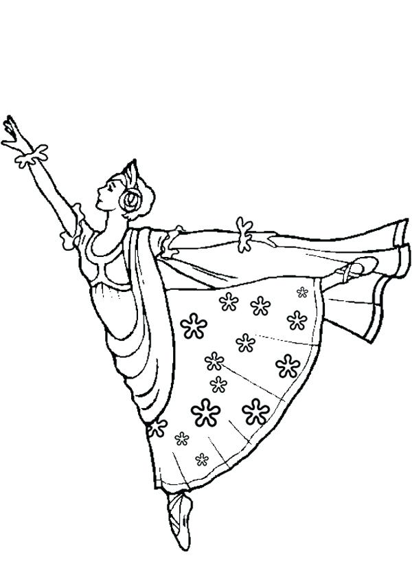 600x850 Coloring Pages Ballerina Ballerina Printable Coloring Pages Free