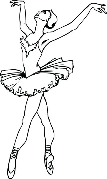 360x602 Coloring Pages Ballerina Coloring Pages For Dance Google Search