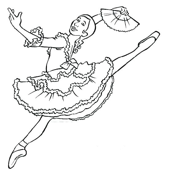 551x558 Coloring Pages Ballerina Elegant Ballerina Coloring Page For Your
