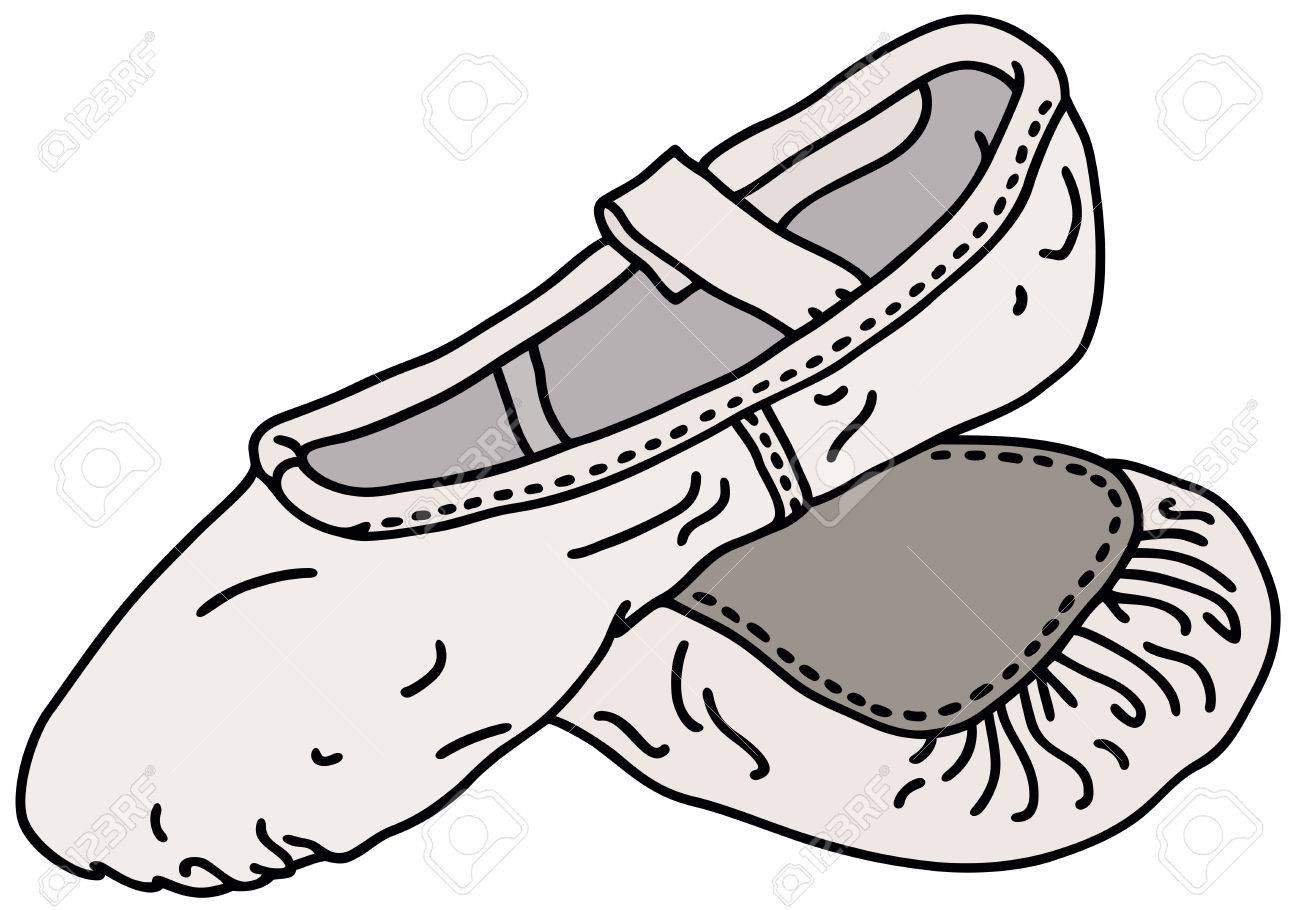 1300x910 Hand Drawing Of A Ballet Shoe Royalty Free Cliparts, Vectors,