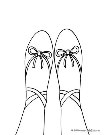 363x470 Toe Ballet Shoe Coloring Pages