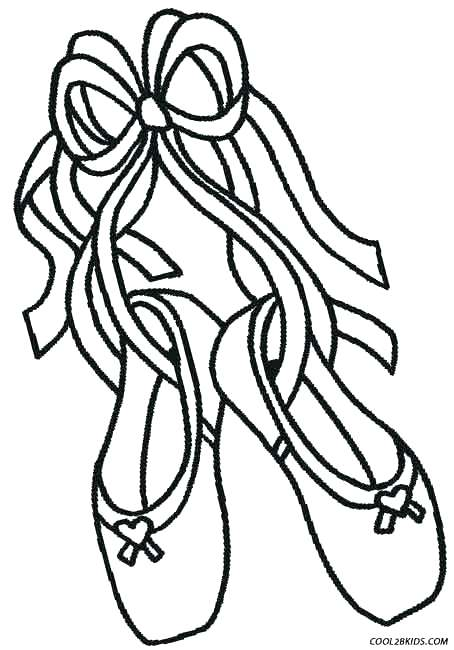 454x650 Ballet Coloring Page Free Ballerina Coloring Pages Ballet Shoes
