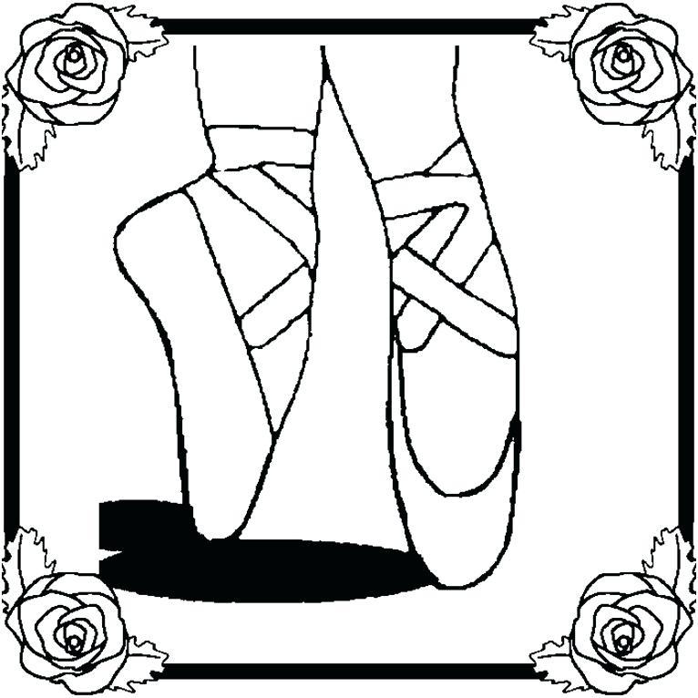 766x766 Ballet Coloring Pages Ballet Shoes Coloring Pages Ballet Shoes
