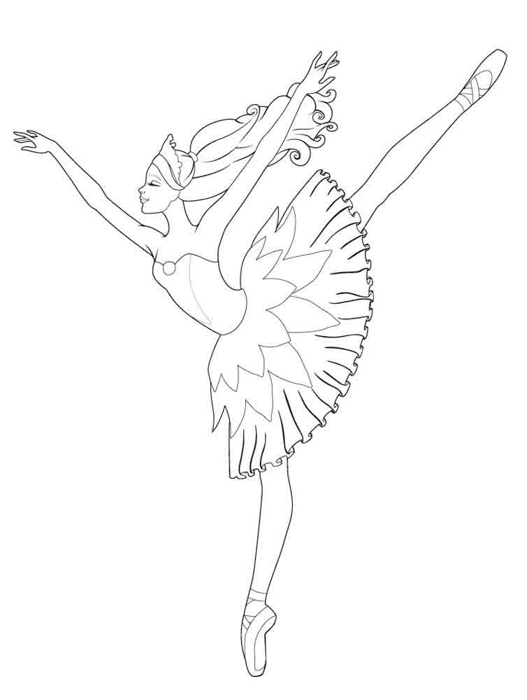 754x1000 Ballet And Dancing Coloring Pages
