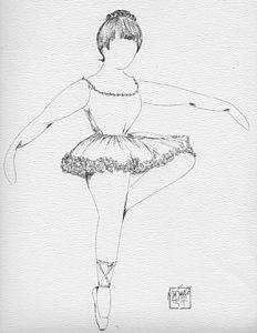 232x300 Ballet Dance Drawings