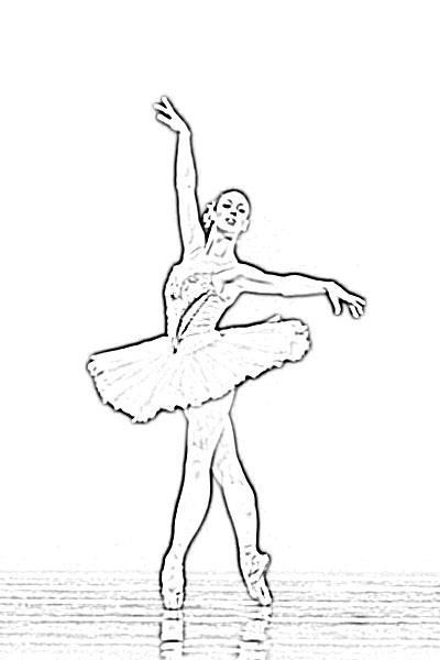 400x600 Ballet Dancer Girl Sketch