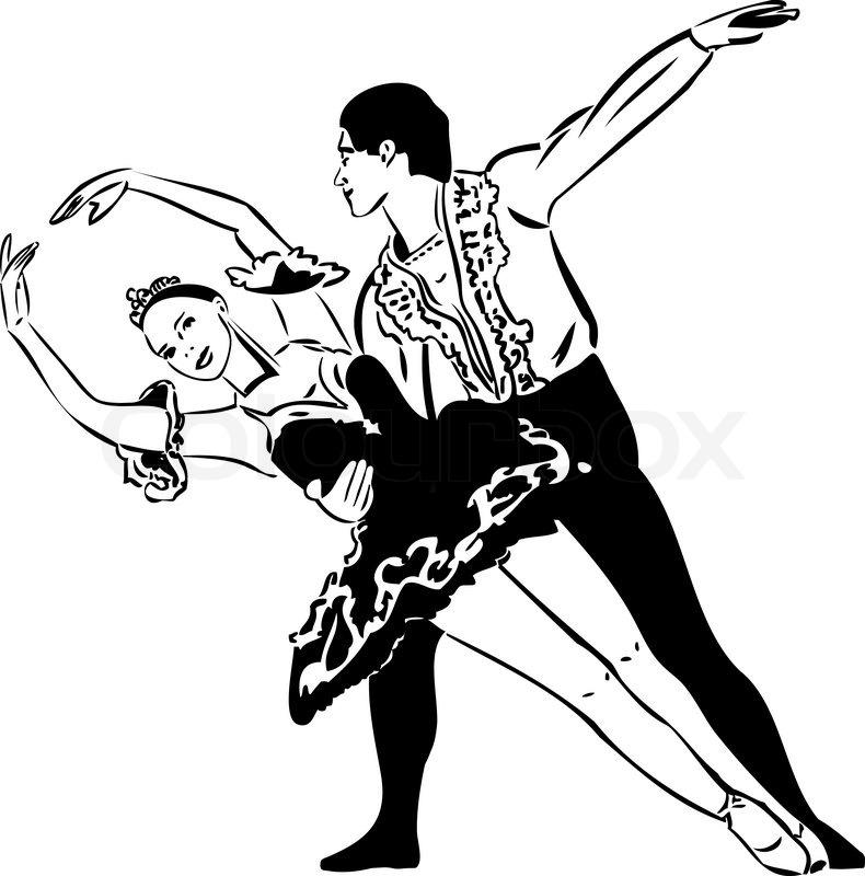 790x800 Ballet Dancing Couple Stock Vector Colourbox