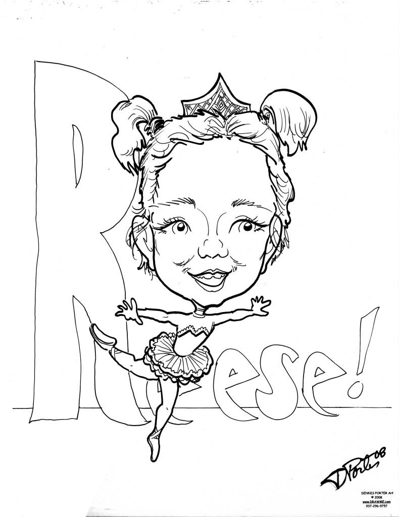 790x1024 Caricatures Reese Ballet Dancer Drawme