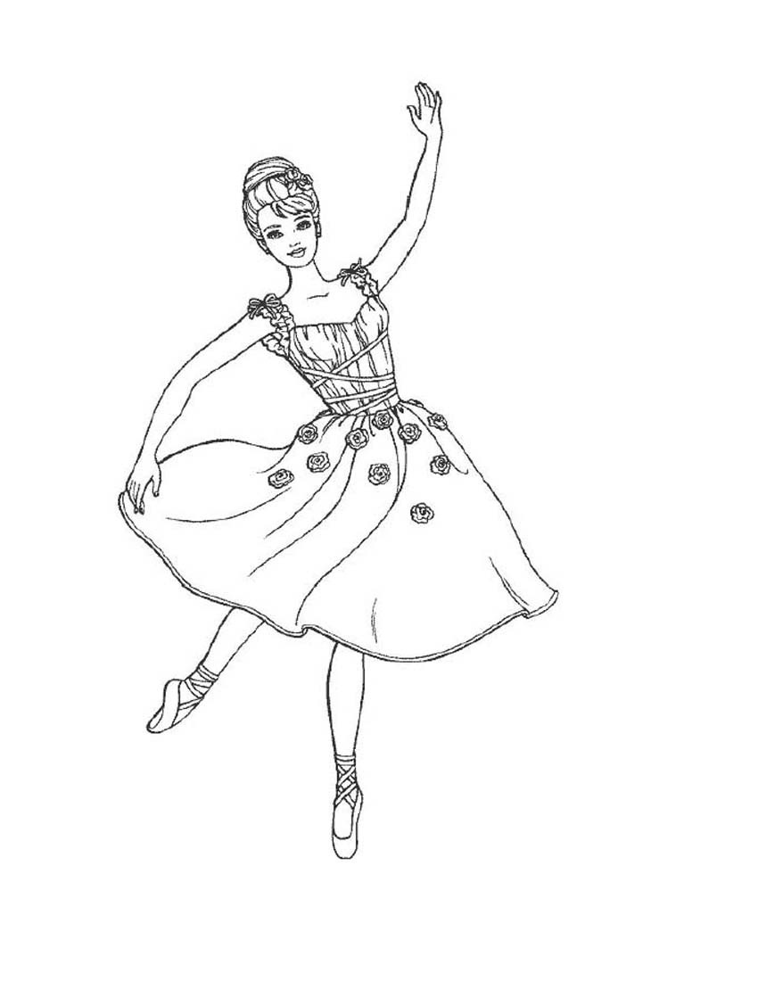 850x1100 Coloring Pages For Girls Ballet Dancers Costumes Printable To Tiny