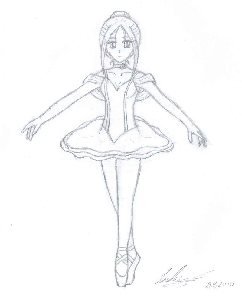 800x986 Drawing Of Ballet Dancer