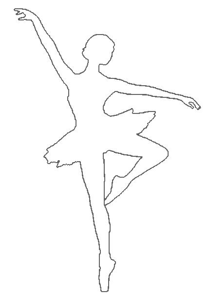 429x608 Drawn Ballet Outline