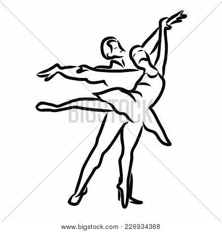 450x470 Graphic Sketch Woman Man Dancers. Vector Amp Photo Bigstock