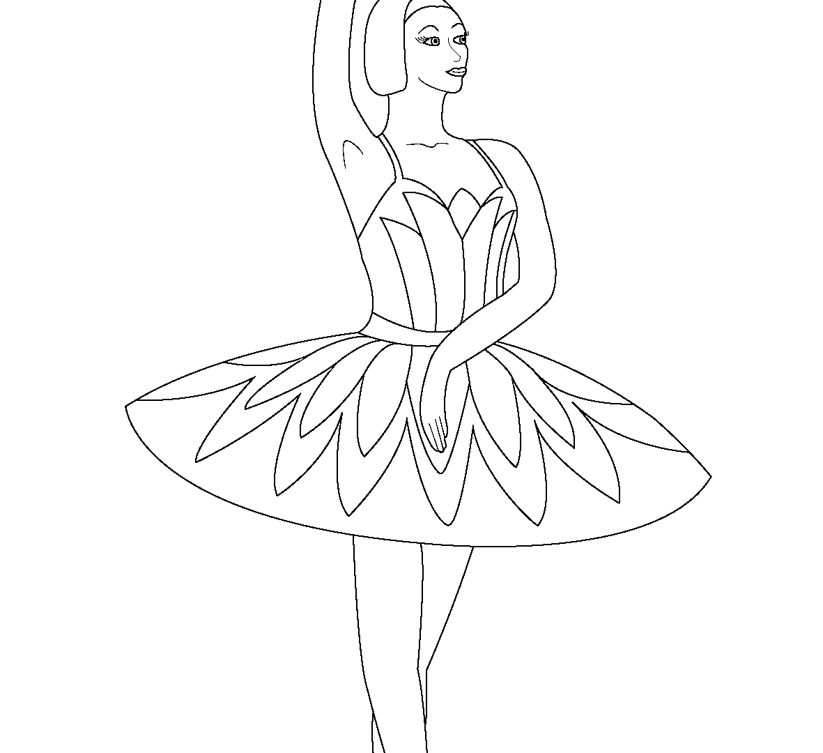 1181x1080 Jazz Dance And Ballet Coloring Drawing Dancer Pages Free Printable