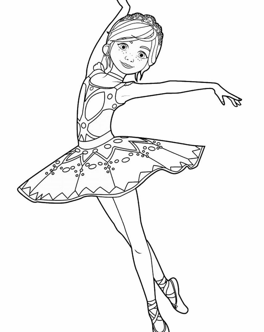 857x1080 Ballerina Coloring Page Stock Vector Ballet Dancer Pages Free