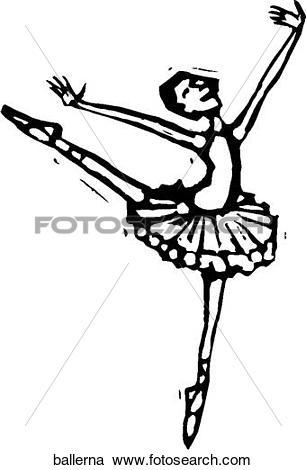 306x470 Ballerina Clipart Line Drawing